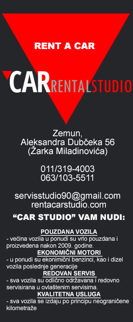Rent a car Car rental studio Beograd